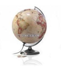 Földgömb 30 cm antik műanyag talp és meridián