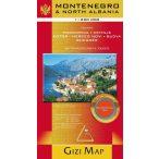 Montenegró és Észak-Albánia térkép