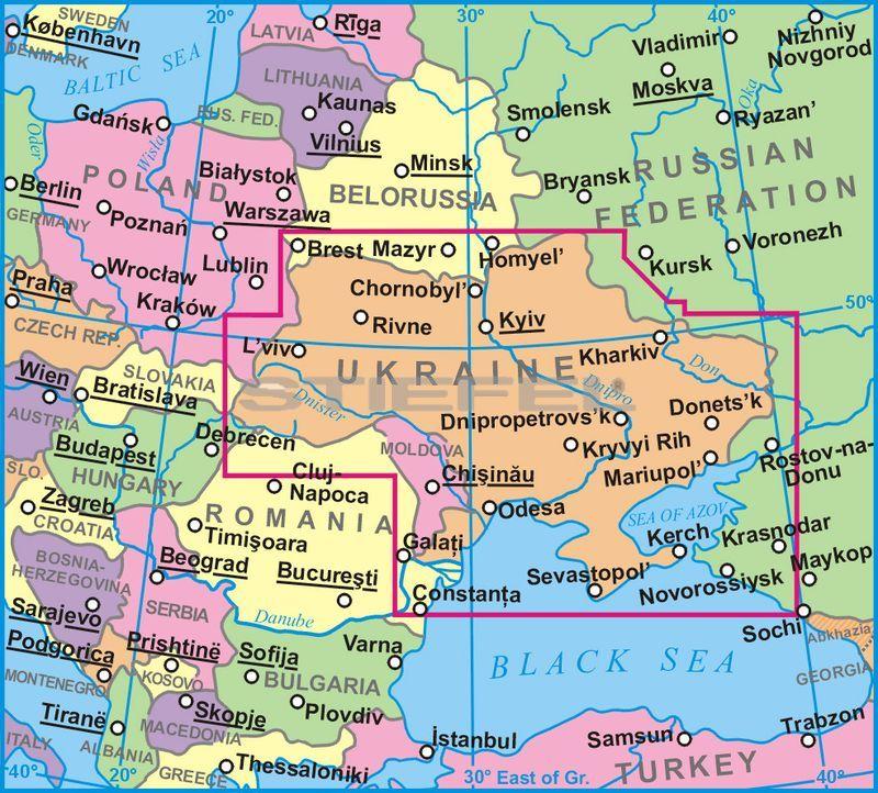 ukrajna térkép Ukrajna és Moldova térkép