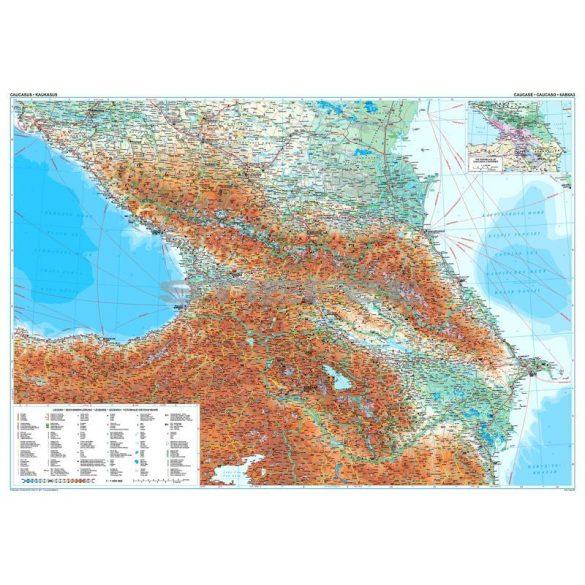 Kaukázus általános földrajzi térképe