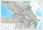 Kaukázus autótérkép