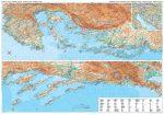 Dalmácia, Isztria általános földrajzi térkép