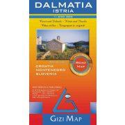 Dalmácia, Isztria autótérkép