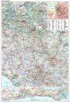 Szerbia, Koszovo, Montenegró autótérkép