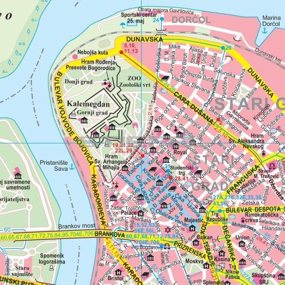 Belgrád várostérkép