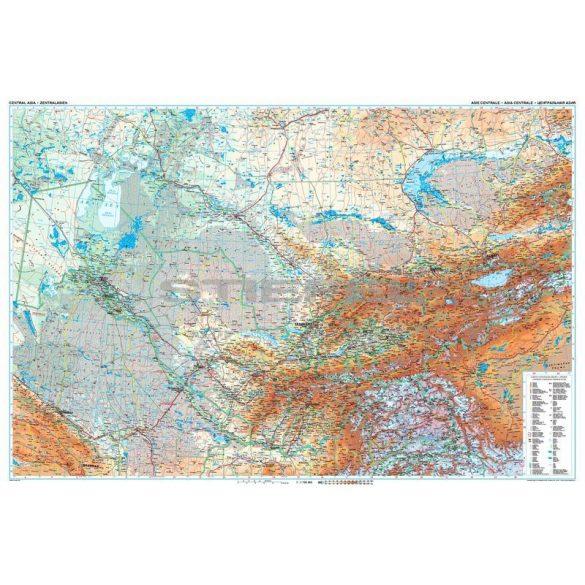 Közép-Ázsia általános földrajzi térképe