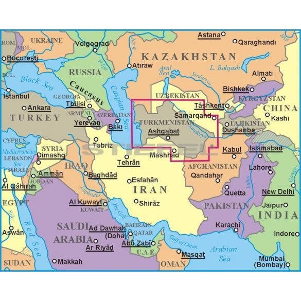 Türkmenisztán térképe - Új kiadás