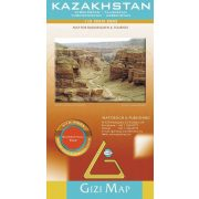 Kazahsztán általános földrajzi térképe