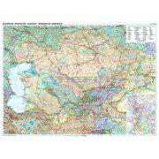 Kazahsztán politikai / autós térképe - Új kiadás
