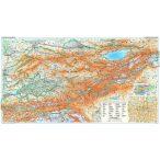 Kirgizisztán általános födrajzi térképe - Új kiadás