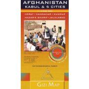 Afganisztán térkép, Kabul + 5 várostérkép