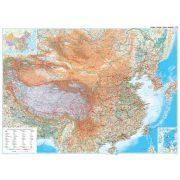 Kína általános földrajzi térképe