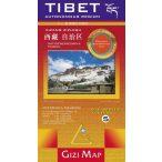 Tibet autonóm terület általános földrajzi térképe (Kína 5)