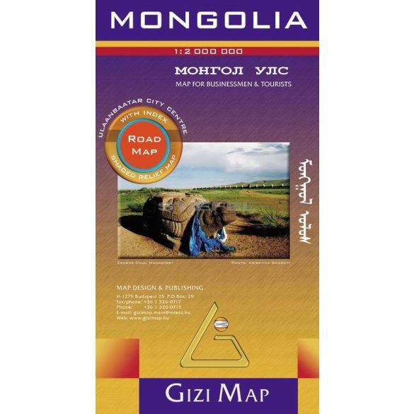 Mongólia autótérképe - Új kiadás
