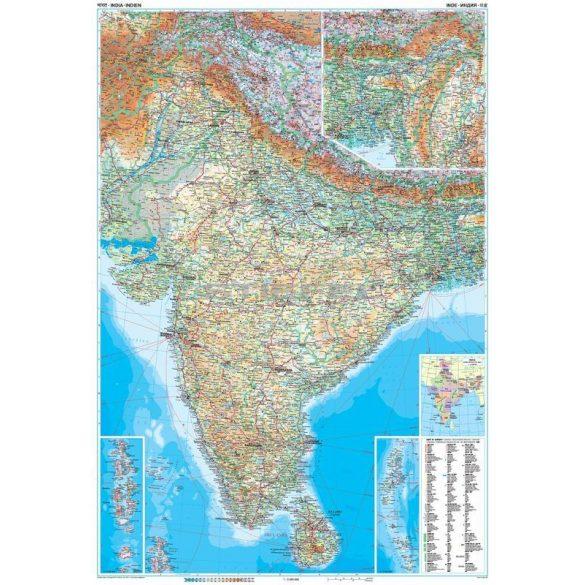 India Altalanos Foldrajzi Terkepe Uj Kiadas