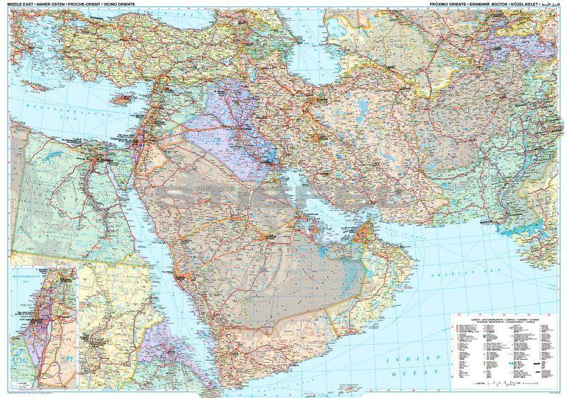közel kelet térkép Közel Kelet (politikai térkép) közel kelet térkép