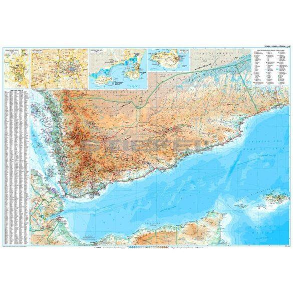 Jemen és az Ádeni-öböl térképe