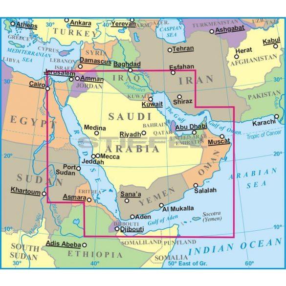 Szaúd-Arábia térkép