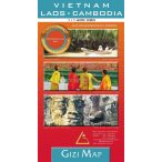 Vietnam, Laosz, Kambodzsa térkép