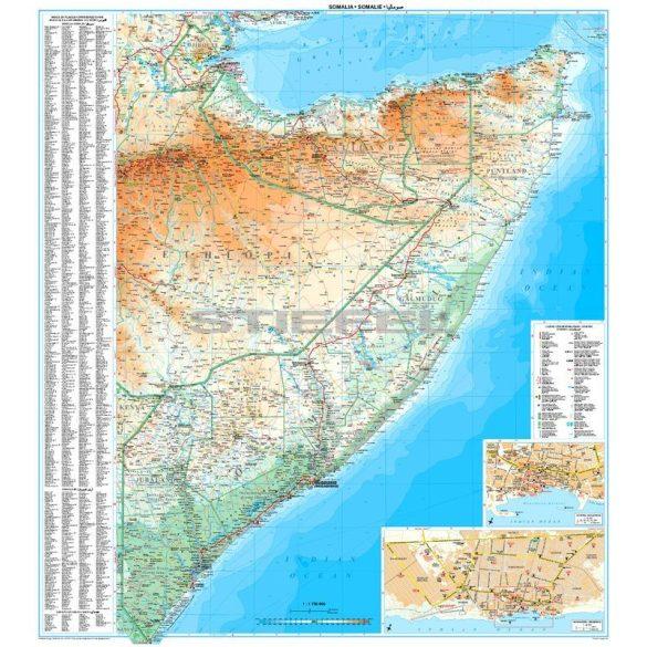 Szomália és Szomáliföld térképe