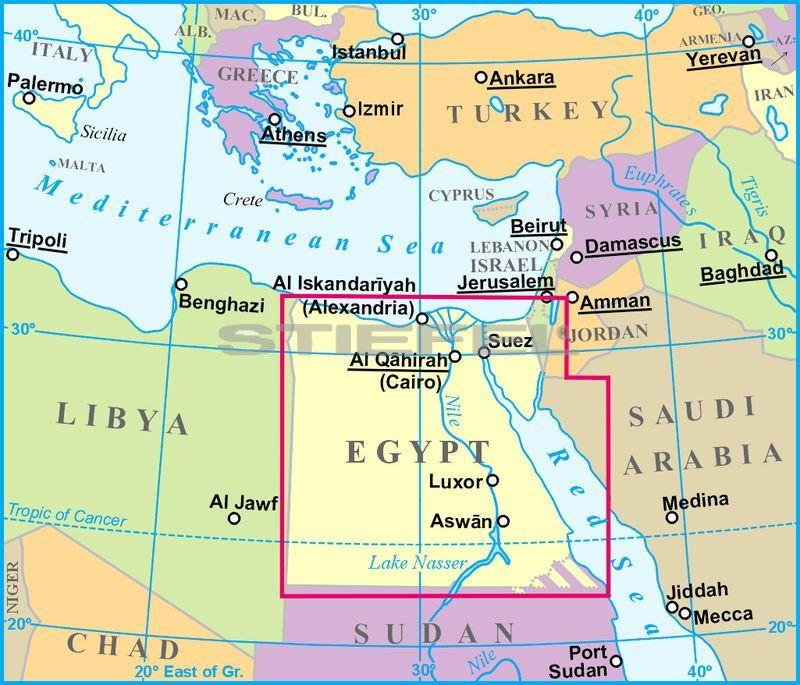 térkép egyiptom Egyiptom térkép