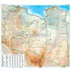 Líbia általános földrajzi térképe