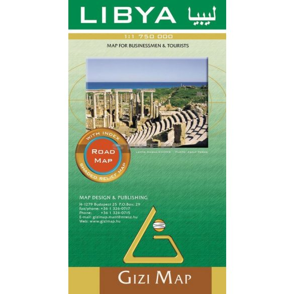 Líbia autótérképe