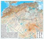 Algéria (általános földrajzi térképe)