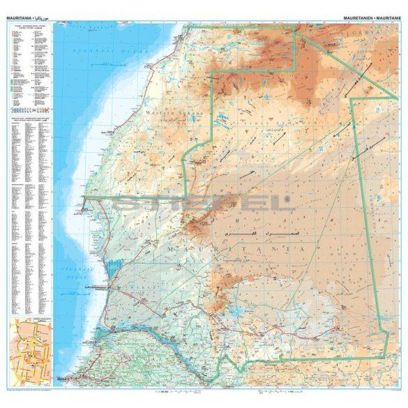 Mauritánia térkép
