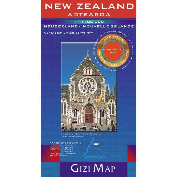 Új-Zéland térkép - Új kiadás