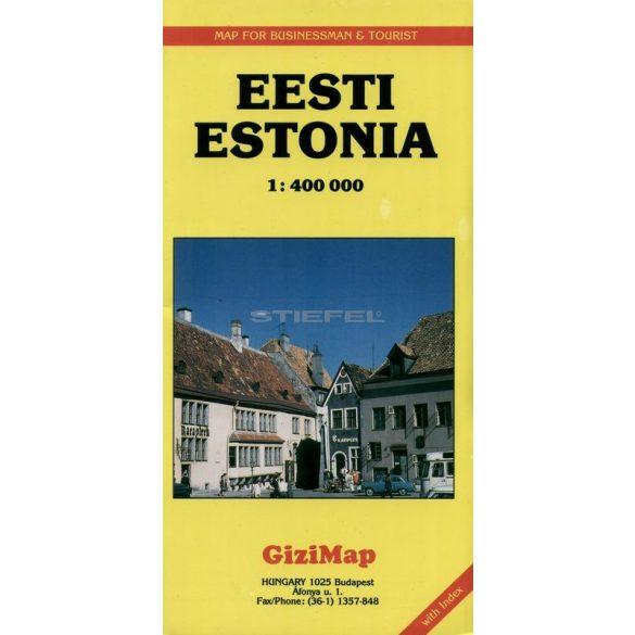 Észtország autótérképe