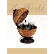 Bárföldgömb barna asztali Giove (a gömb teteje oldalra nyitható) barna Ø 40  cm