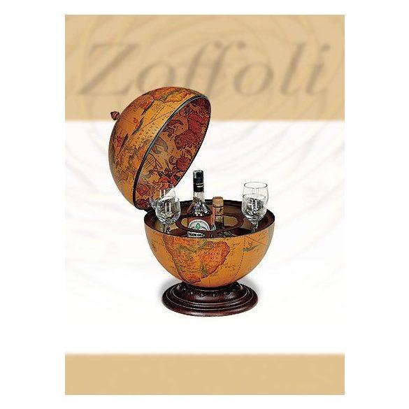 Bárföldgömb barna asztali Nettuno (a gömb teteje oldalra nyitható) barna Ø 40  cm