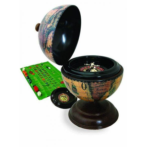 Földgömb asztali antik stílus rulett készlettel Ø 22  cm