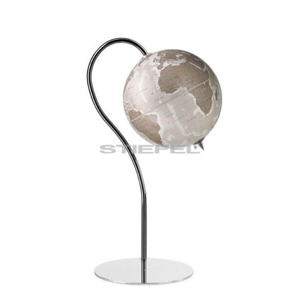 Földgömb álló fém talpas térben elhelyezhető PUNTO meleg szürke gömbbel