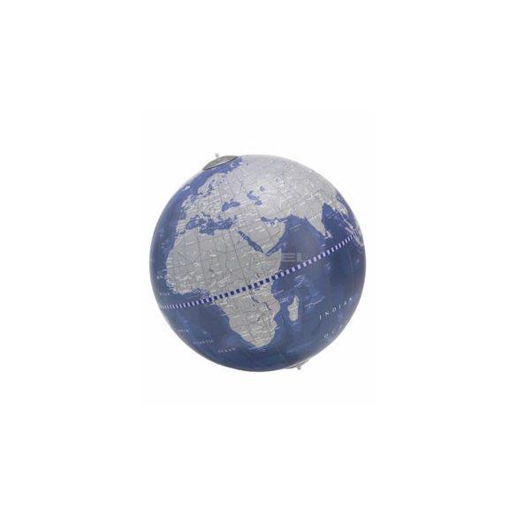 Földgömb asztali ARIA DESK kék metál gömb fatalp plexi váz