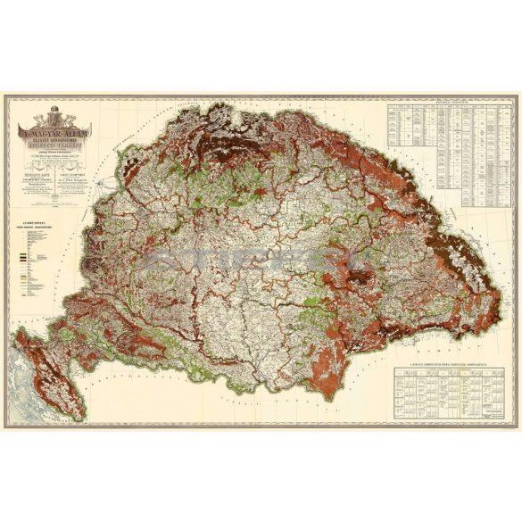 Magyarország erdészeti térképe keretezett, tűzhető