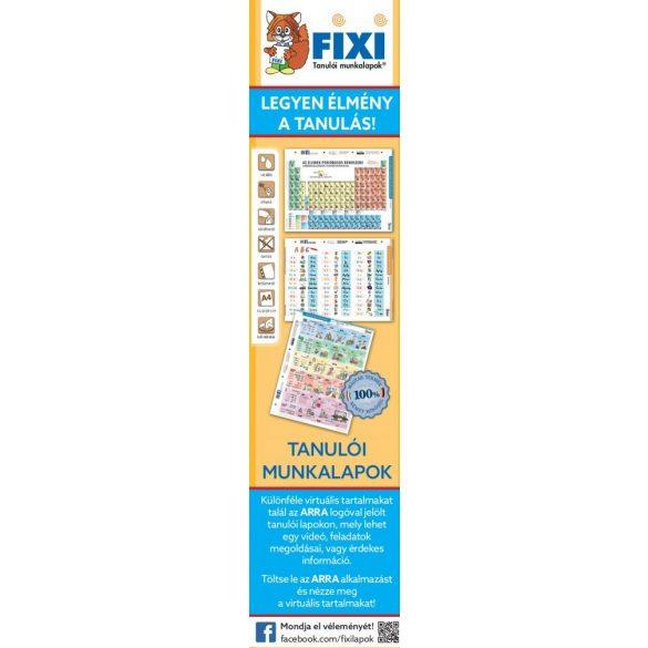 FIXI Tanulói munkalapok könyvjelző