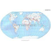 A Föld + Európa körvonalas munkatérképe DUO óriás poszter