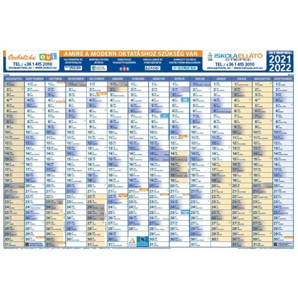 Tanéves tervezőnaptár iskoláknak 2021/22-es tanévre