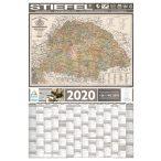Éves tervezőnaptár antik Magyarország térképpel 2020