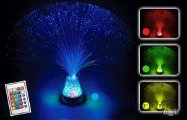 Optikai szálas lámpa - jégkristály (távirányítóval)