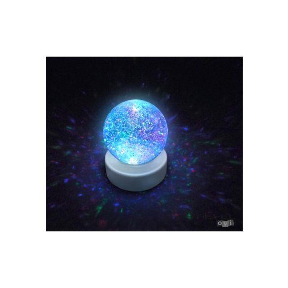 Világító csillámgömb