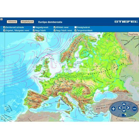 Európa földrajza CD,Digitális tananyag