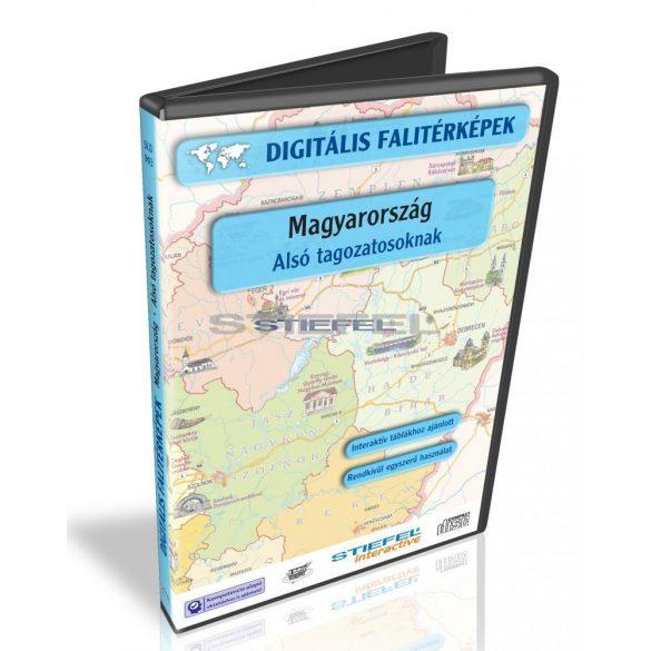 Digitális Térkép - Magyarország - Alsó tagozatosoknak (5 térkép)