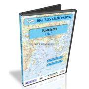 Digitális Térkép - Földrészek - Föld 1. - Föld tematikus térképek ( 8 térkép)