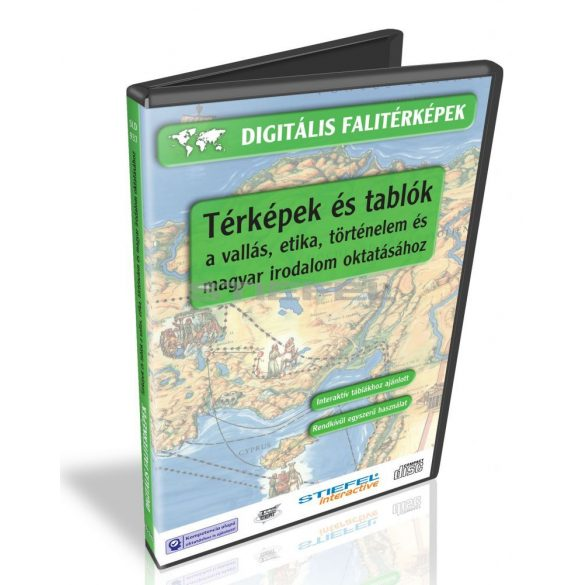 Digitális Térkép - Térképek és tablók a vallás, etika, történelem és magyar irodalom oktatásához (12 db térkép)