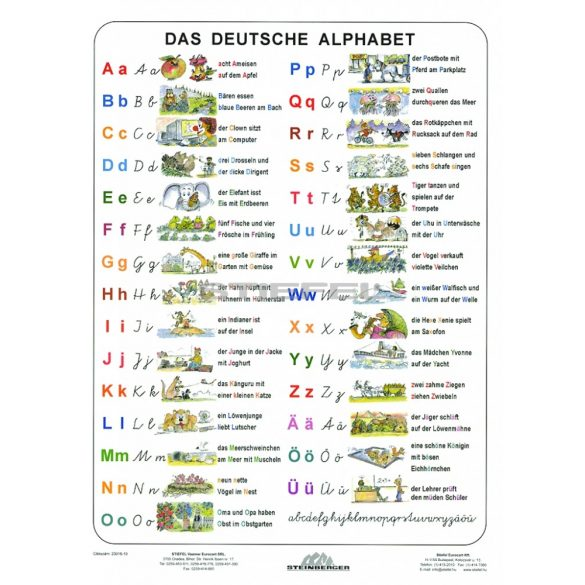 Német nyelvi tanulói munkalapcsomag A3 alátéttel és kék filctollal