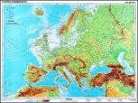 Európa domborzati és antik térképek