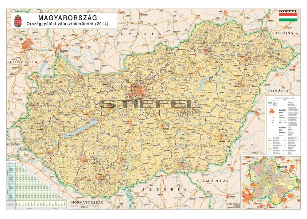 Magyarország választókerületi térképe - standard